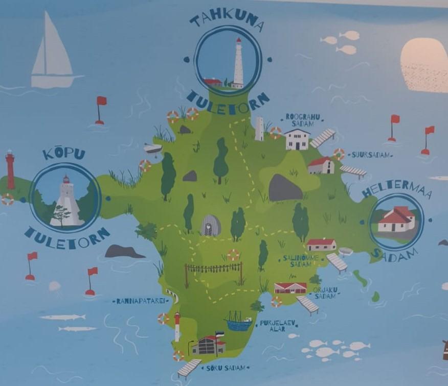 Lustige Karte von der Insel Hiiumaa in Estland