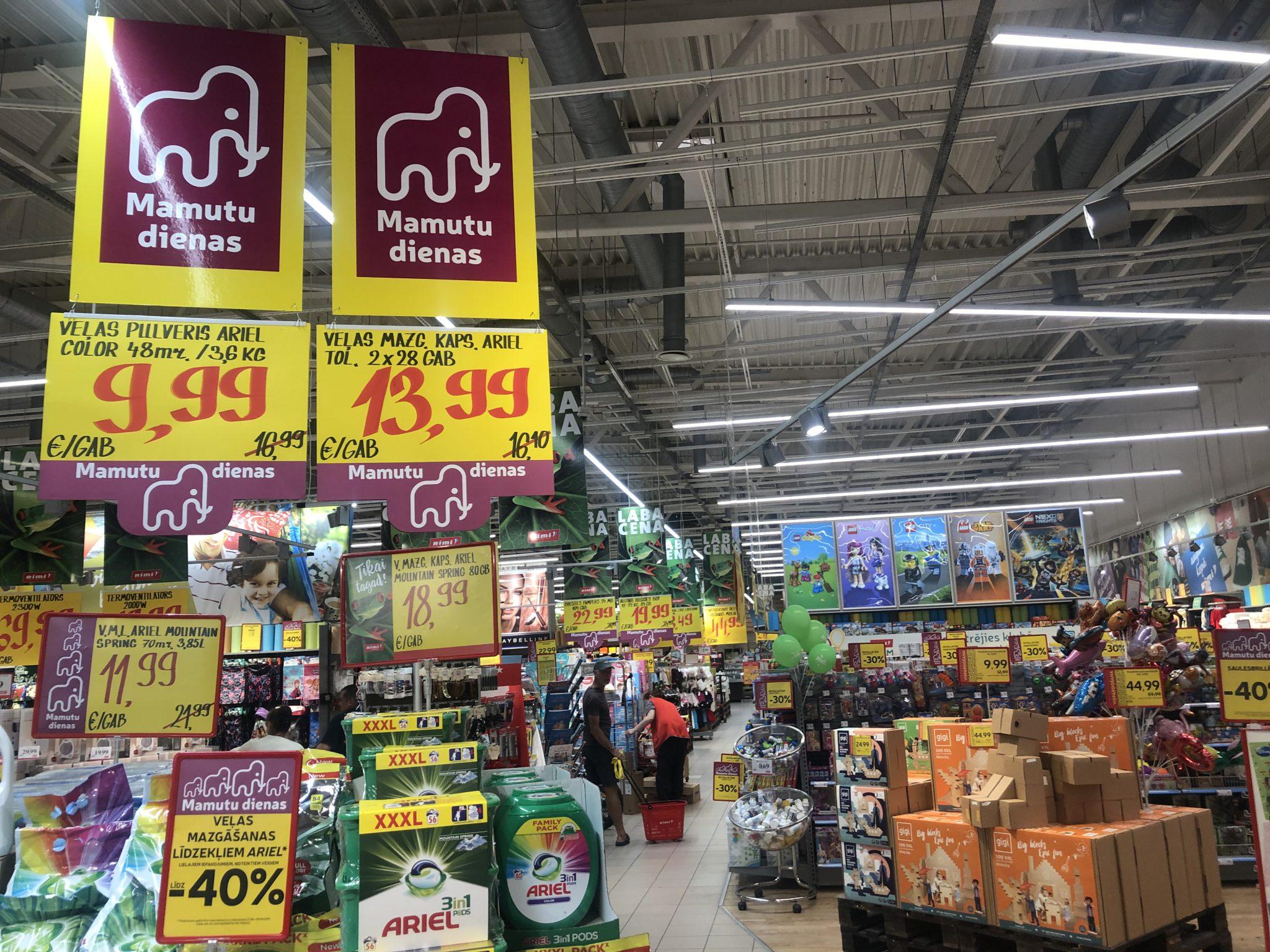Mamutu dienas im Rimi Supermarkt in Lettland
