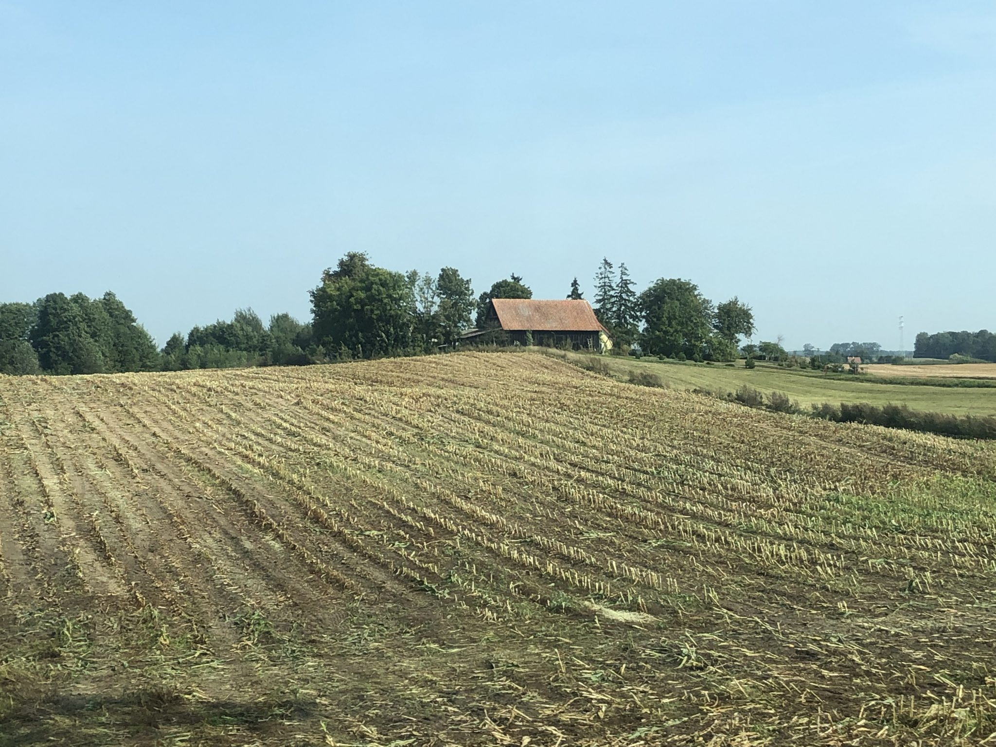 Acker in den Masuren in Polen