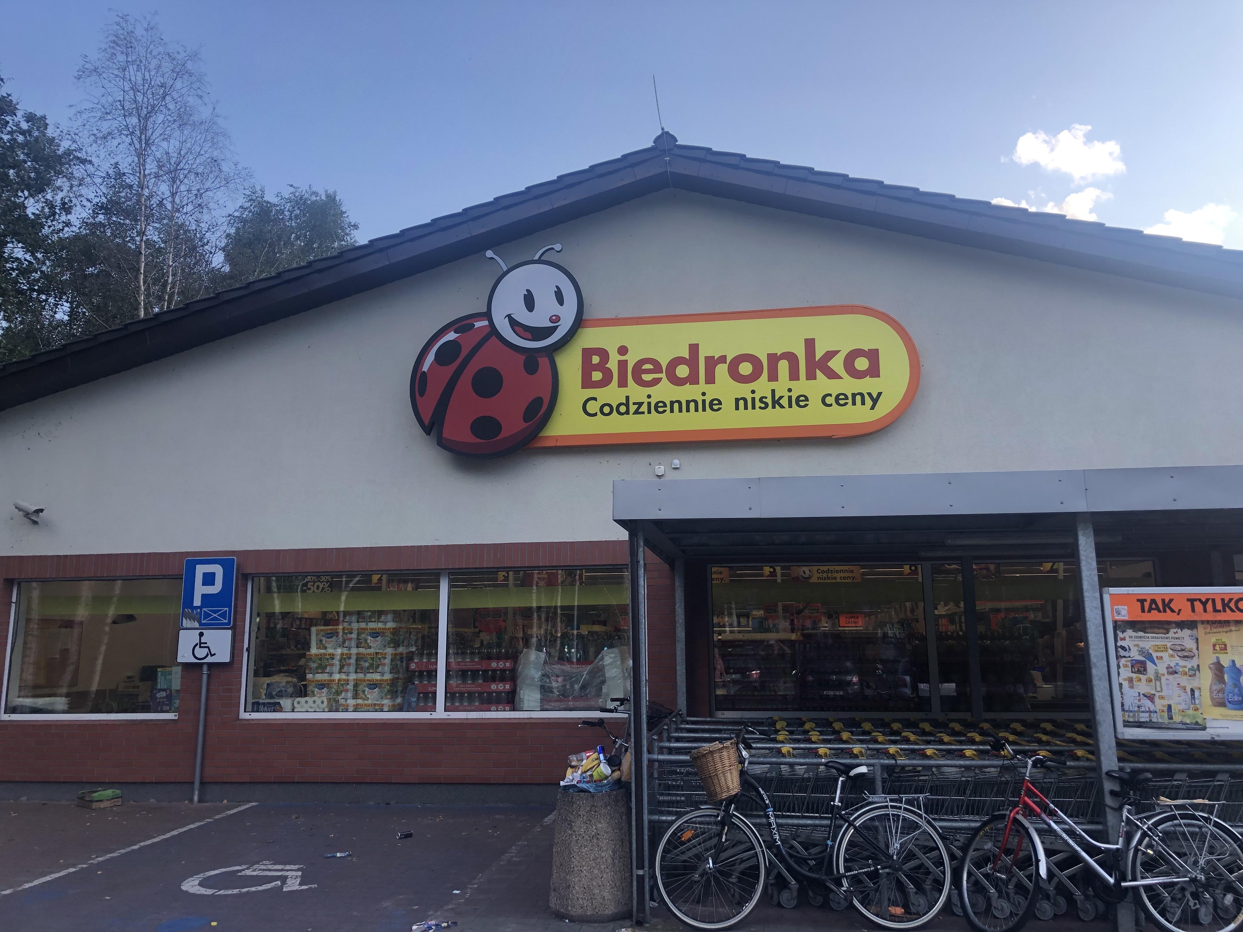 Biedronka heisst der Supermarkt in Hel in Polen