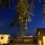 Auf dem Campingplatz in sun4hel bei 30 Knoten