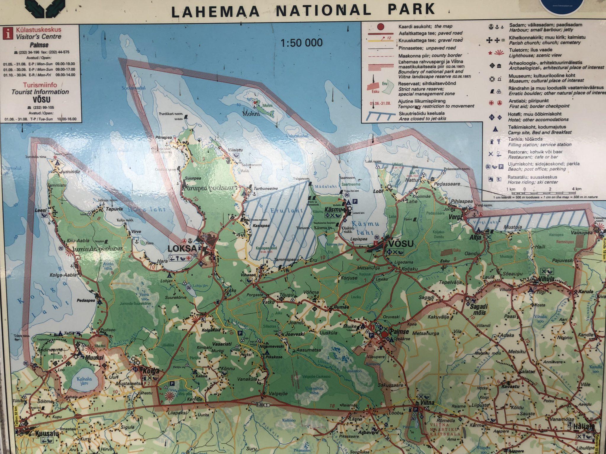 Karten Ansicht vom Laheema Rahvuspark
