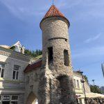 Türme begrenzen die Stadtmauer in Tallinns Altstadt