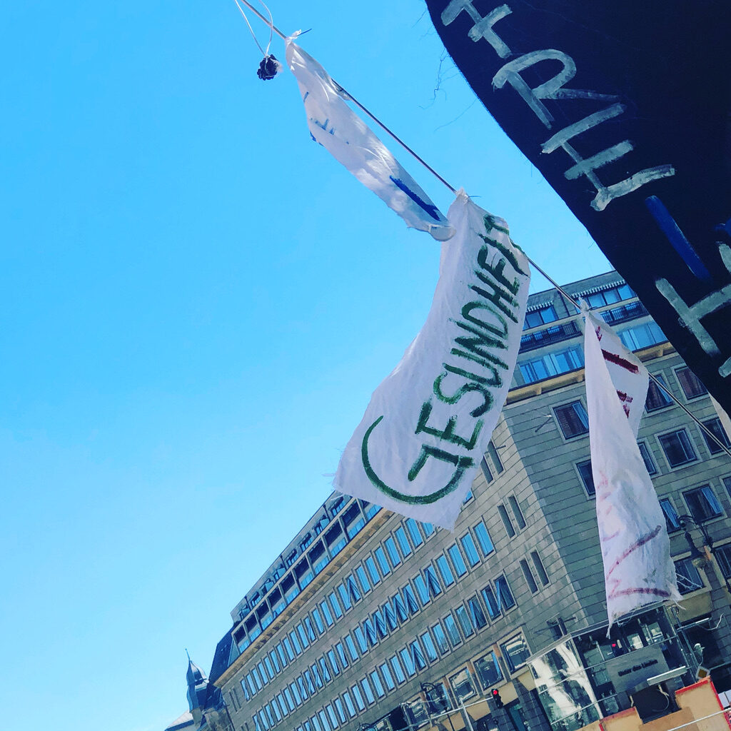 Gesundheit auf der Demo in Berlin