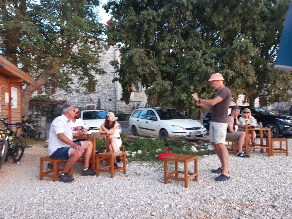 Fotograf bei der Arbeit in Istrien