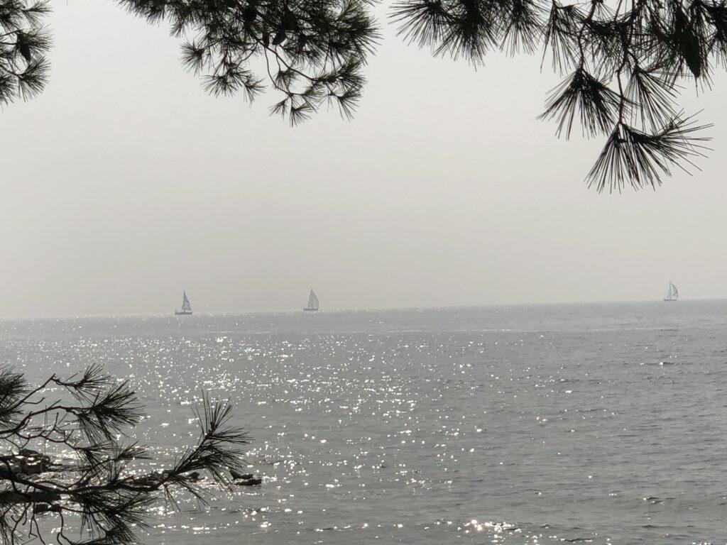 Freier Stellplatz mit Blick aufs Meer