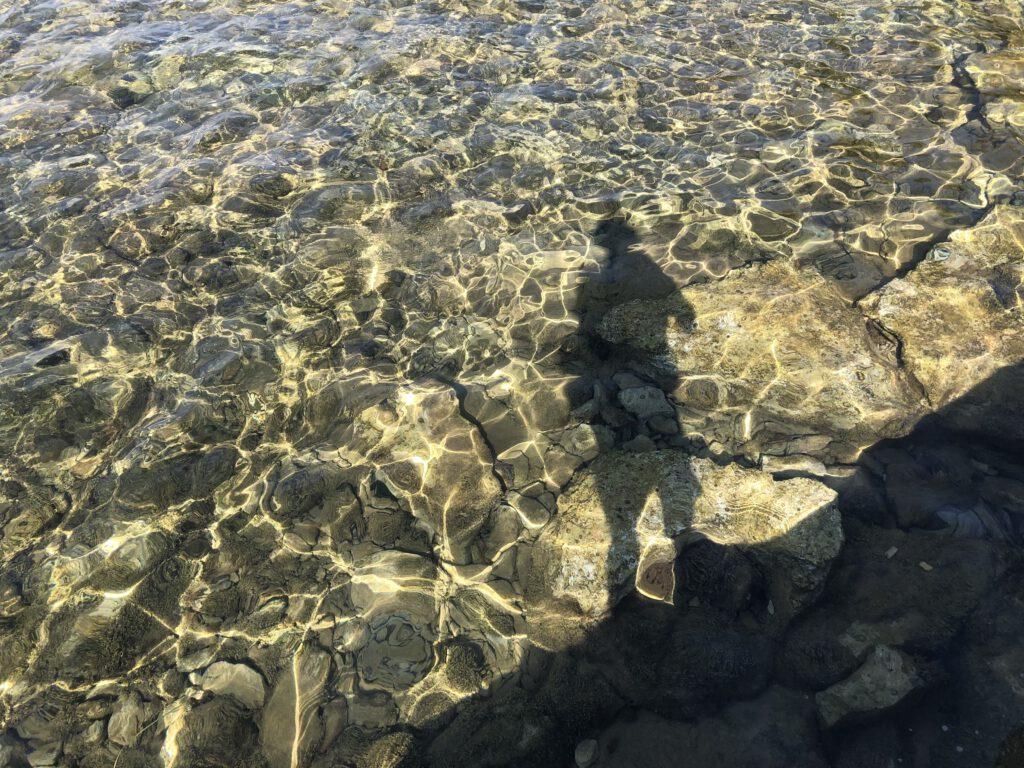 Wasser an der Badestelle Camping Finida in Istrien