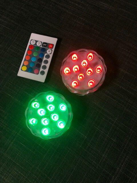 Mit bunter LED Beleuchtung lässt sich der Wassertank gestalten